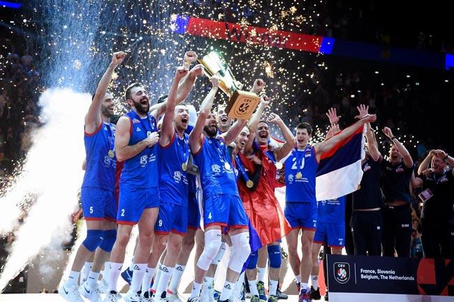 Мужская сборная Сербии по волейболу стала чемпионом Европы