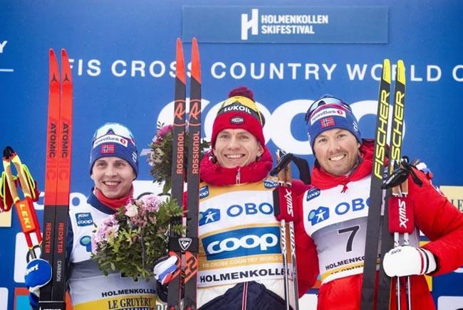 Российский лыжник Большунов выиграл королевский марафон на этапе Кубка мира в Хольменколлене (+Видео)